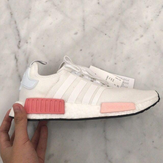 8009514fea6e INSTOCK UK6.5 US8 Adidas NMD R1 White Rose Pink