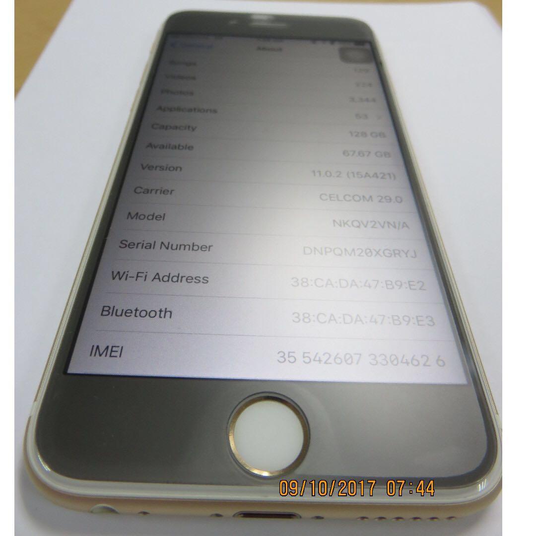 IPhone 6S 128 GB Gold