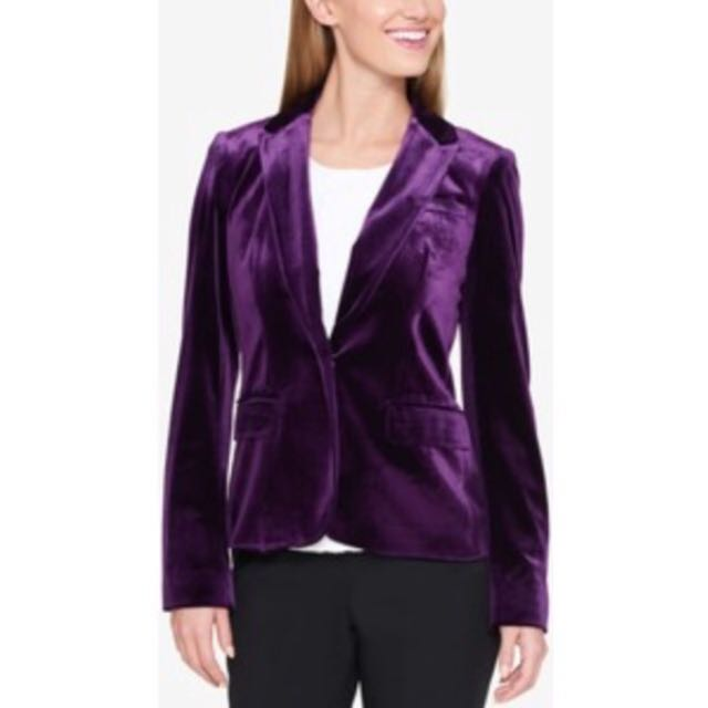 Jacob velour blazer deep purple size 7/8 or Medium