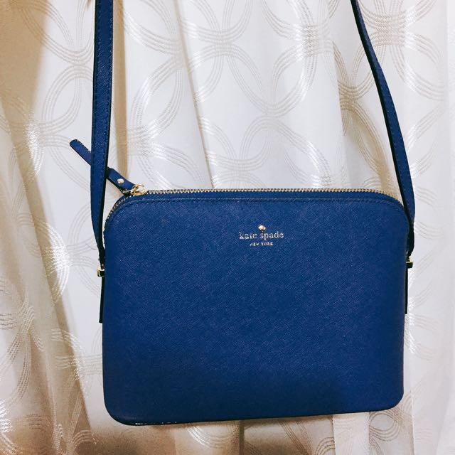 正品Kate Spade 寶藍色小包