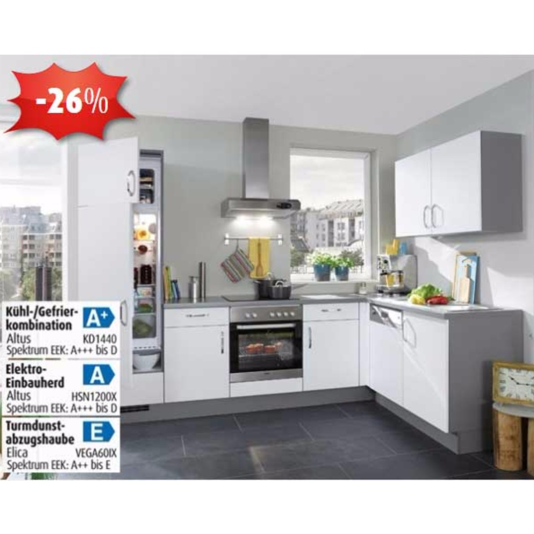 L Shaped Kitchen Cabinet With E Appliances