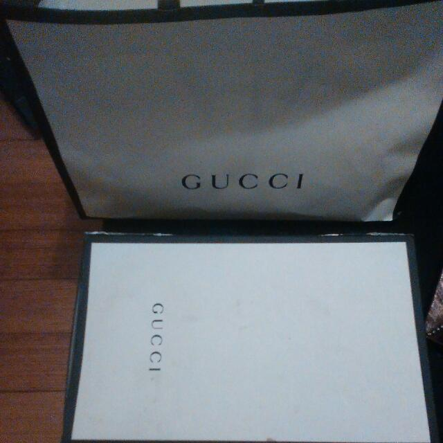 Large Paper Gucci Bag & Box