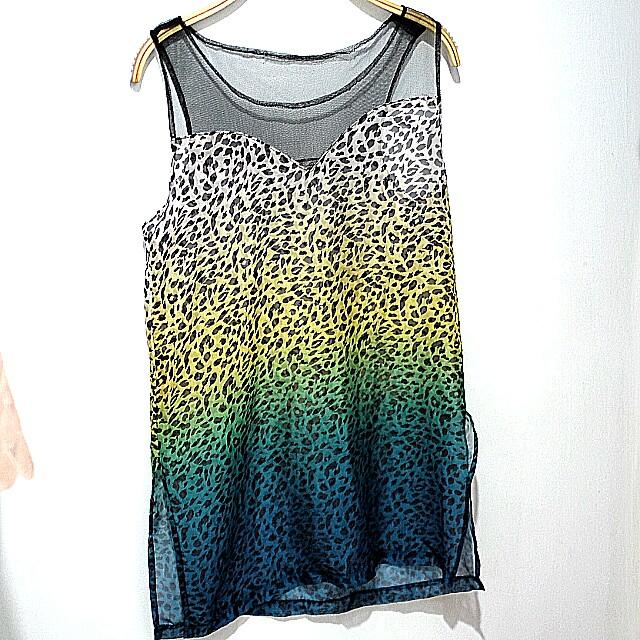 Leopard top sleeveless