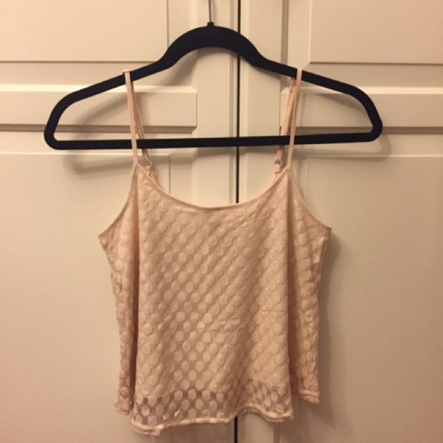 Light pink semi-cropped tank