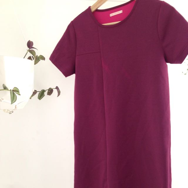Maroon Pink Tshirt Dress Size 6