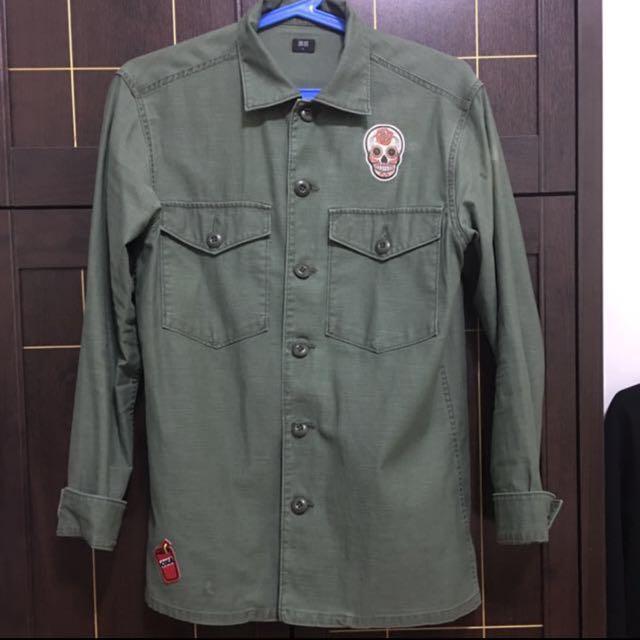 Men's Uniqlo Love Sleeve Polo size medium