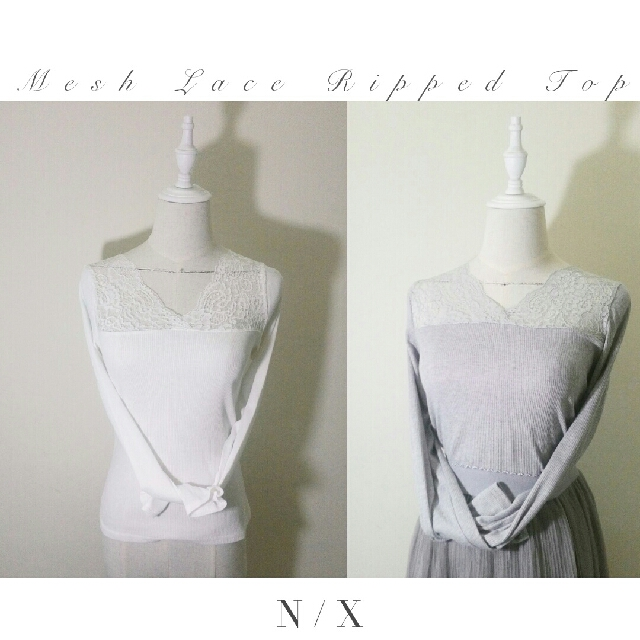 ♥Mesh Lace Ripped Top♥  2 For RM20 √ POS