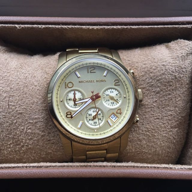Michael Kors Midsize Chrono Gold Watch