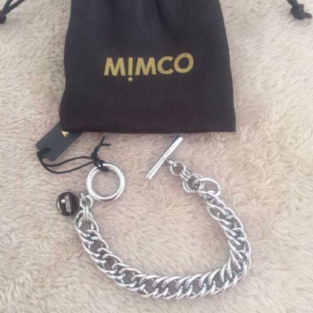 Mimco Silver Curbaceous Bracelet