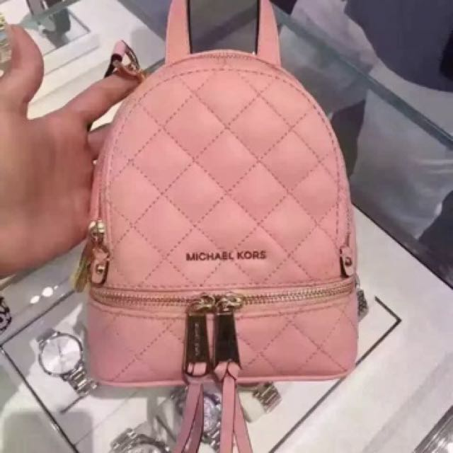 747d6b76e22e MK mini backpack , pale pink, Luxury, Bags & Wallets on Carousell