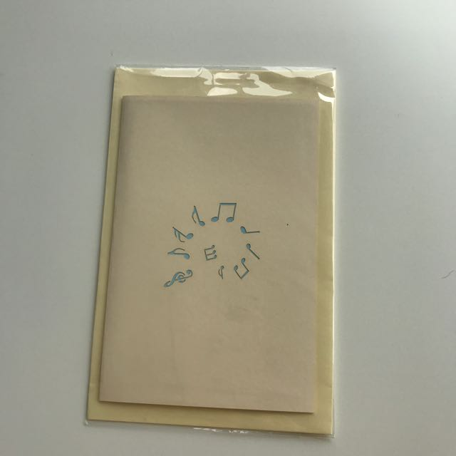 Musical Note Pop-up Card