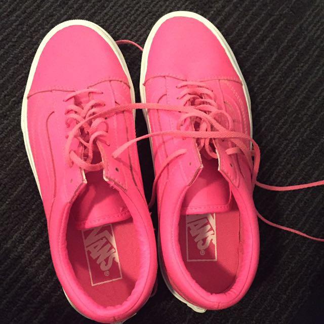 Neon pink vans