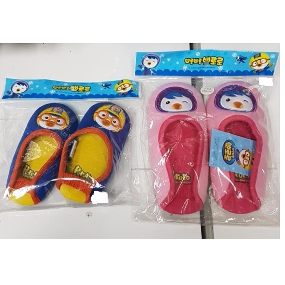 NEW] PORORO / PETTY KIDS BEDROOM SLIPPERS [ORIGINAL FROM KOREA ...