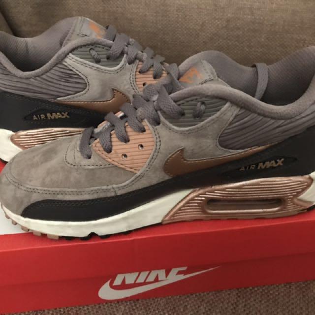 NIKE air max 90 bronze sneakers UK 5 38.5 7.5