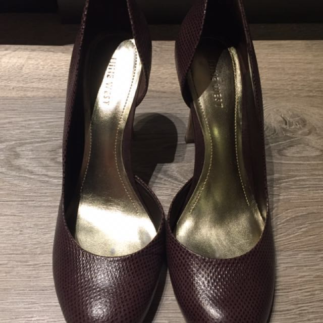 Nine West dark purple snakeskin heels (marked down from $40!)