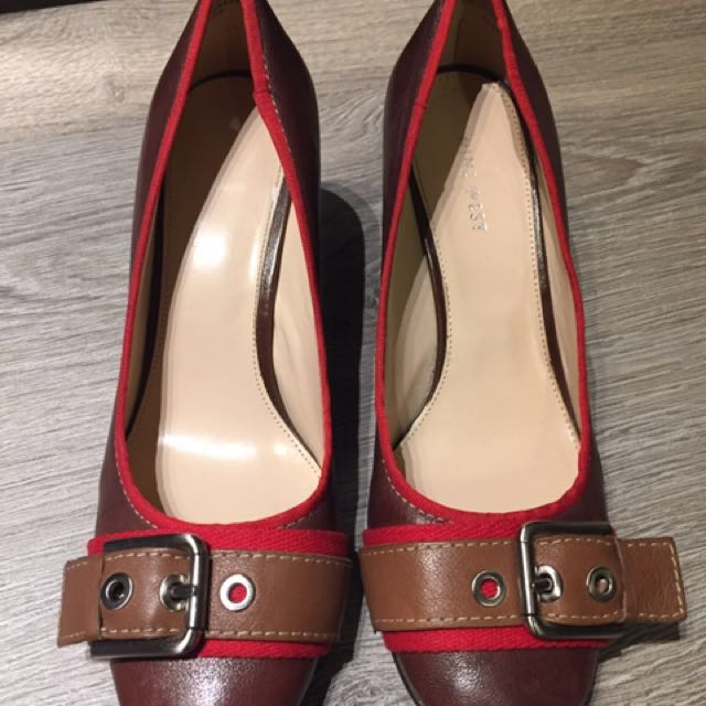 Nine West leather pumps with buckle (marked down from $40!)