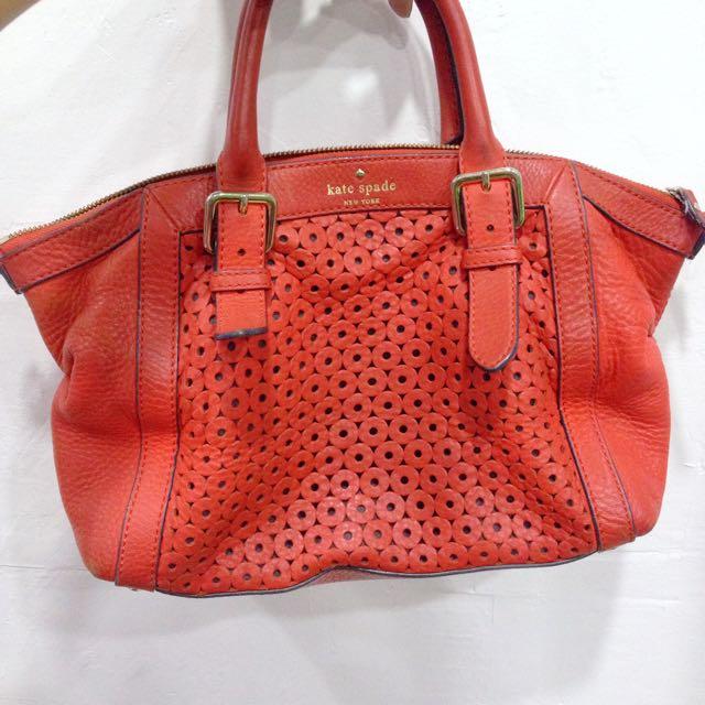 Original Kate Spade Bag In Red