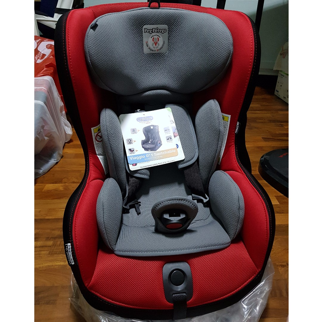 New Peg Perego Car Seat Viaggio 0 1 Switchable Babies Kids