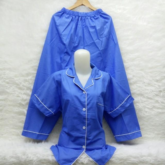 Piyama katun biru