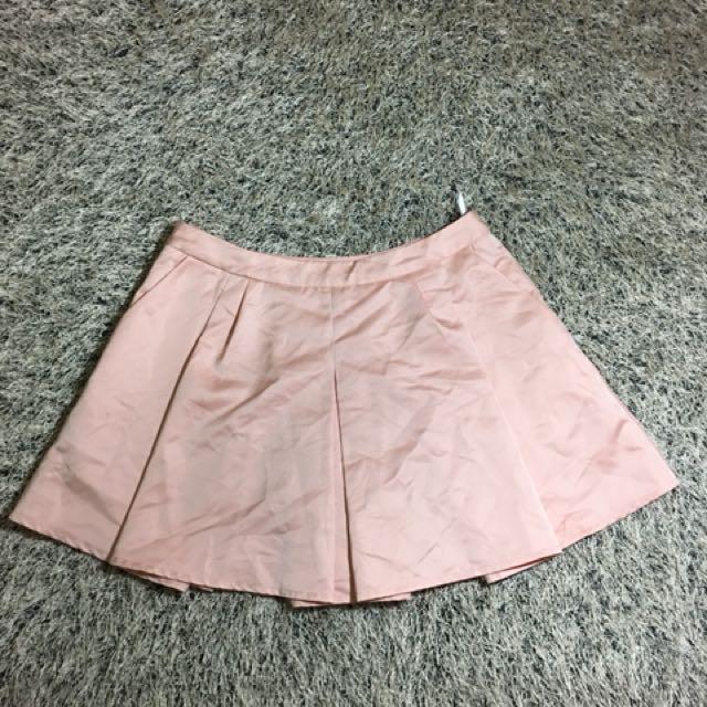 Plum highwaist-short silk fabric