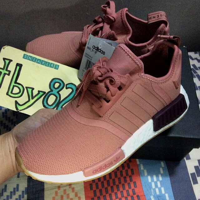 new product 50b99 6c8e5 PO) Exclusive Adidas Womens NMD R1 Raw Pink Gum, Women's ...