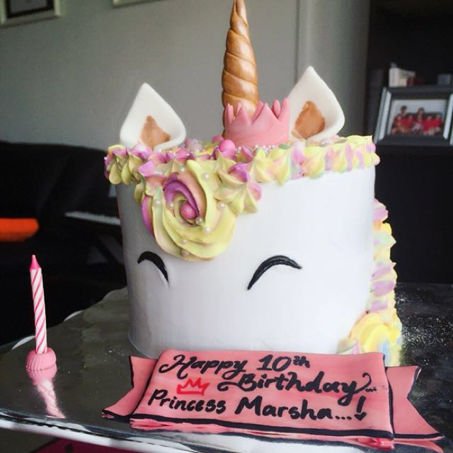Princess Unicorn Cake Food Drinks Baked Goods On Carousell