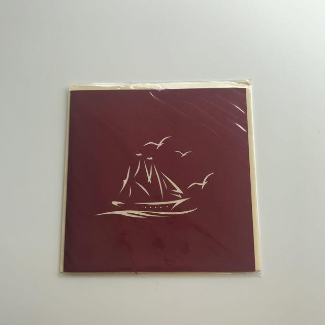 Sail Away Pop-up Card