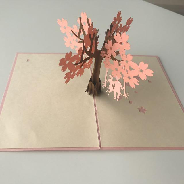Sakura Tree Couple Pop-up Card