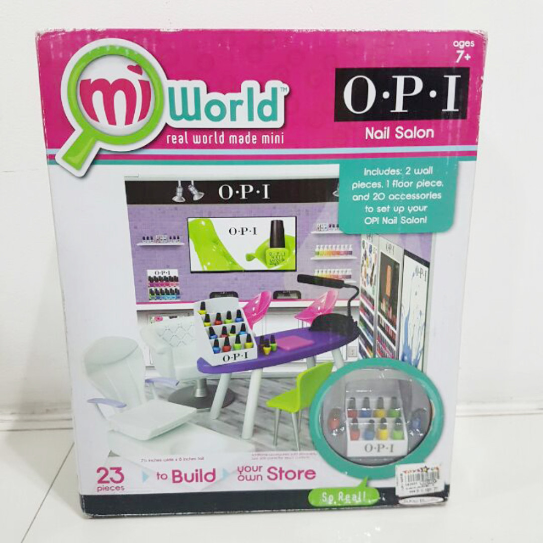 SALE Bnew Authentic MiWorld Mini barbie Toy Shop for kids Opi Nail ...