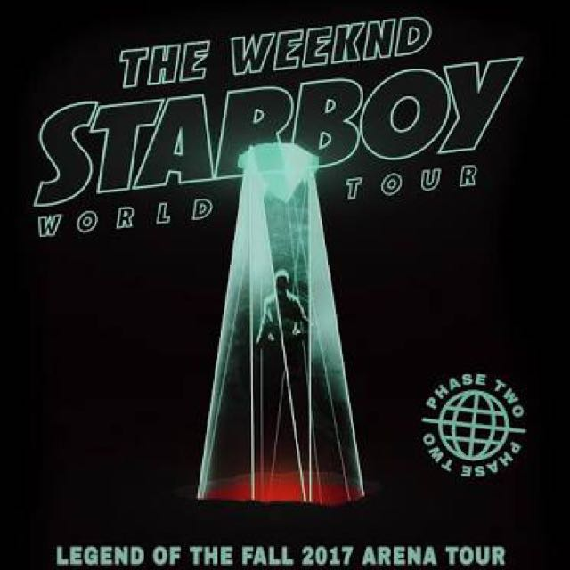 Selling 2x The Weeknd concert tickets for 2nd December