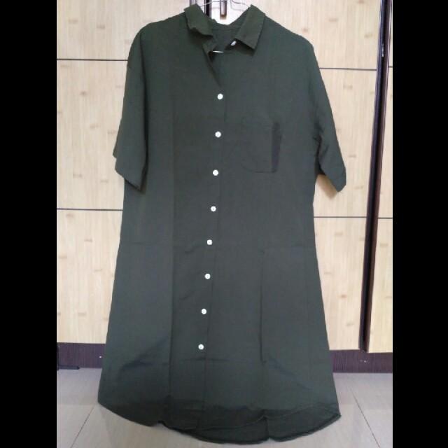 Shirtdress Hijau Army