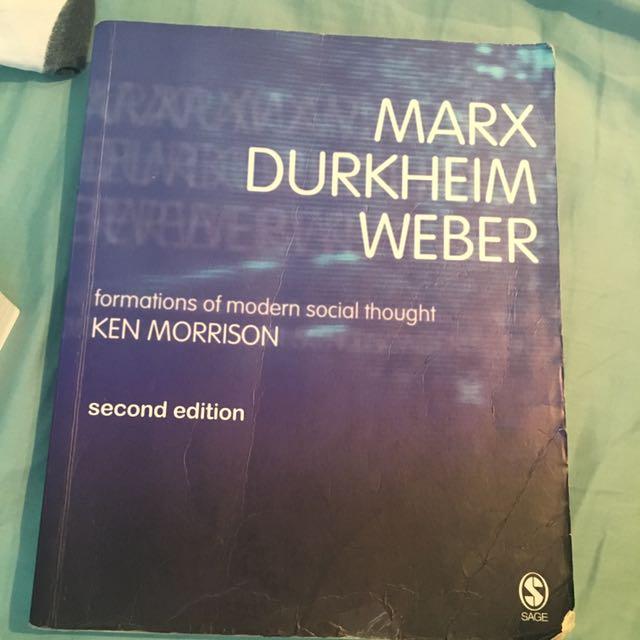 Sociology Marx Durkheim Weber 2nd edition