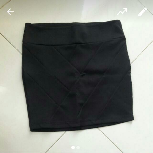 Stradivarius Body Con Mini Skirt