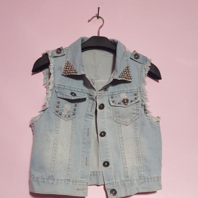 studded jeans jacket
