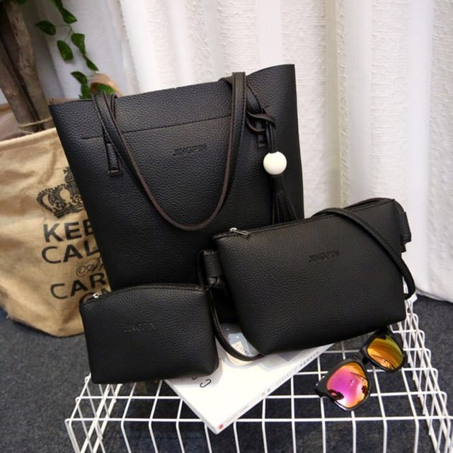 Tas Tote Tangan Dompet 3 In1 Make Up Wanita Murah Summer Bag In Bag