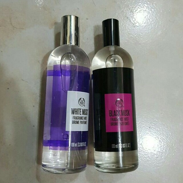 The body shop White musk and Black musk