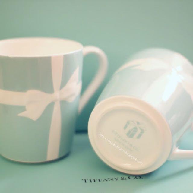 Tiffany經典蝴蝶結馬克杯 美版