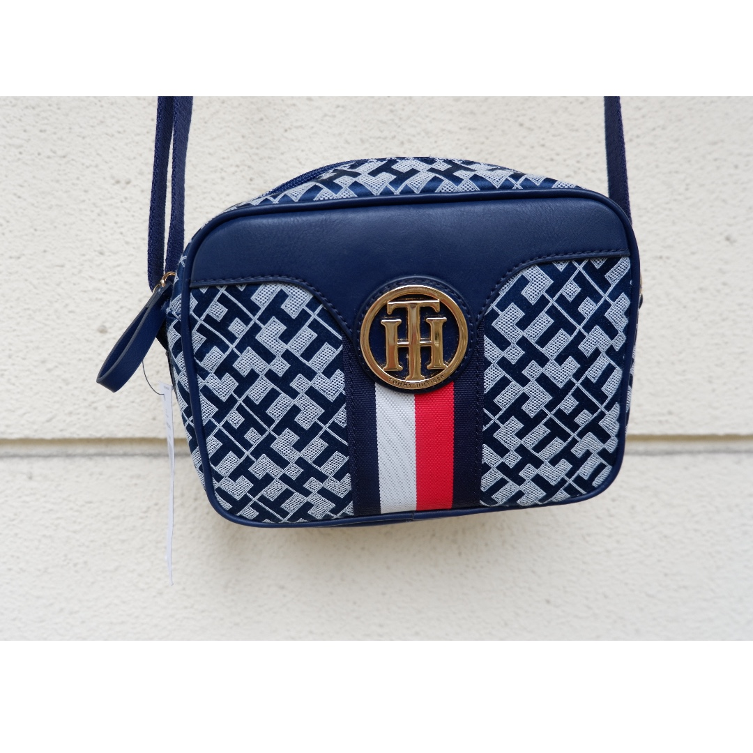 8378c2a632 Tommy Hilfiger Crossbody Bag with Red & White Stripes on Carousell