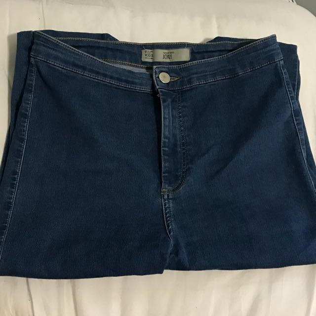 Top Shop Blue Denim Joni Jeans