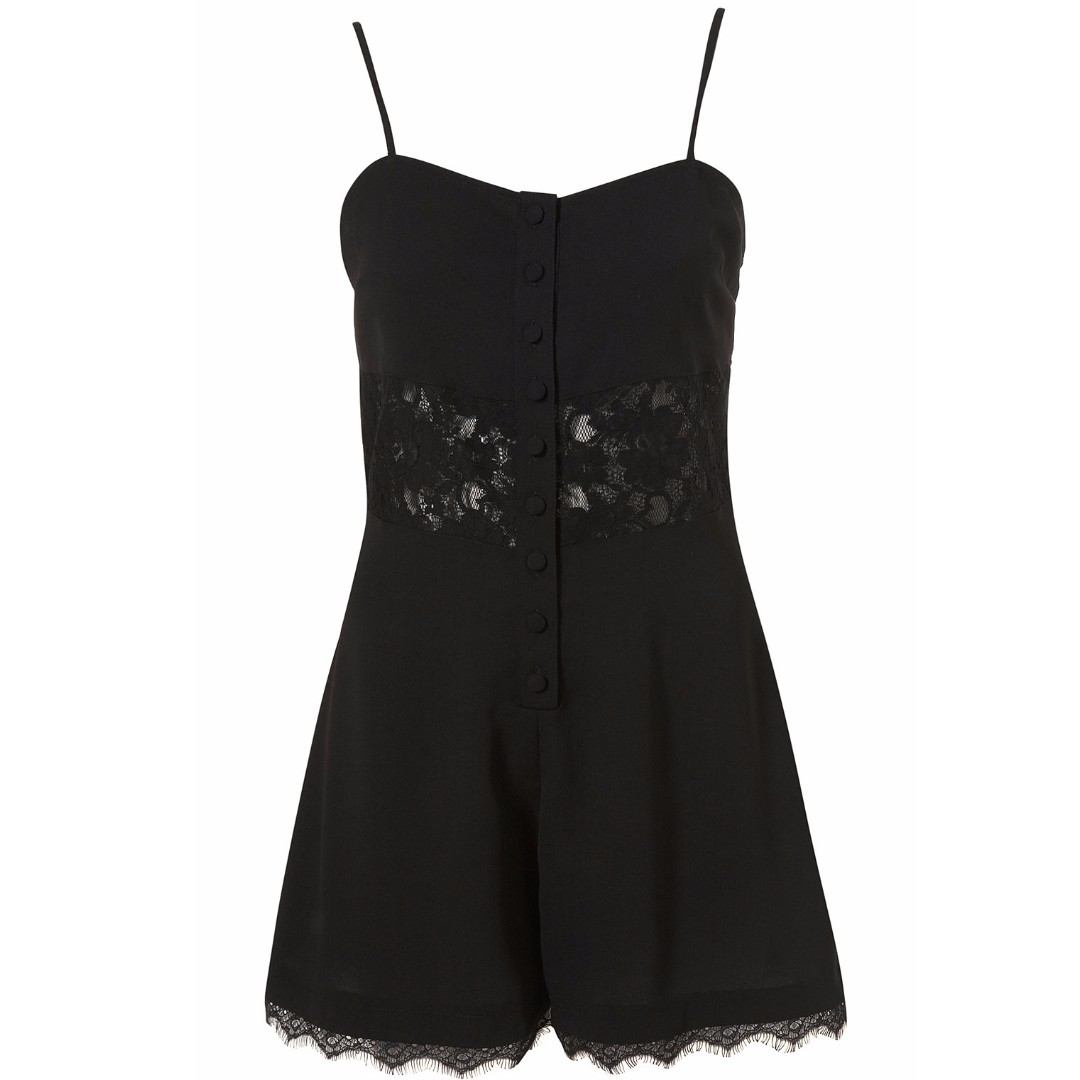 95a900463a7 TOPSHOP Lace Inserts Sexy Romper Jumpsuit UK6