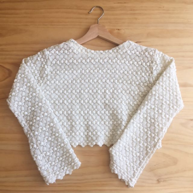 Vintage cropped crochet top