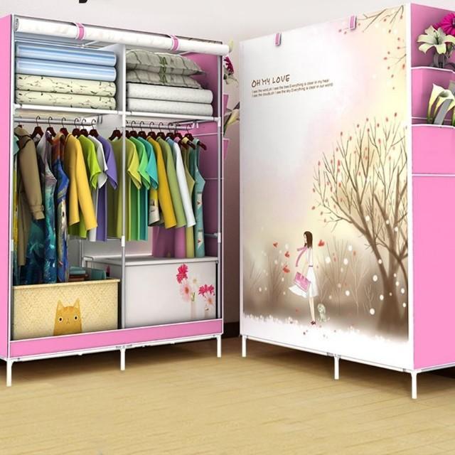 Wardrobe Diy Almari Pakaian Home