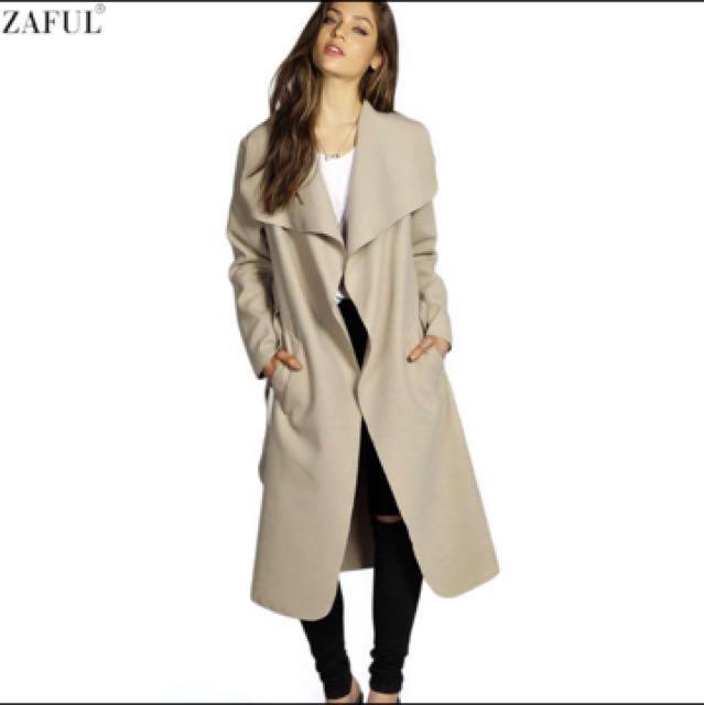 Zaful Camel Coat