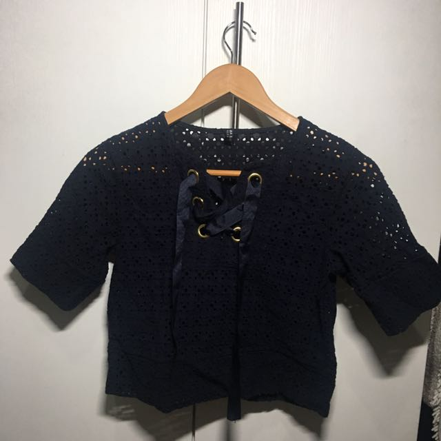 Zara lace top with ribbon
