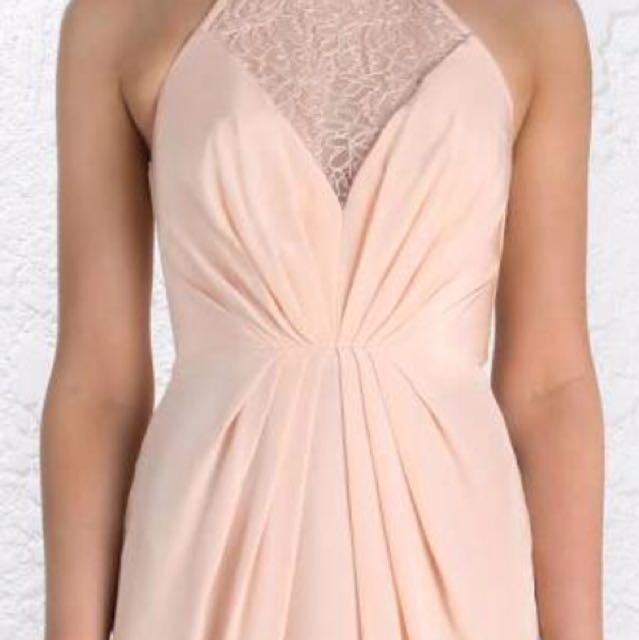 Zimmermann Web Silk midi blush dress