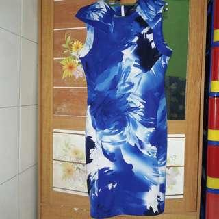 Blue dress (free ongkir)