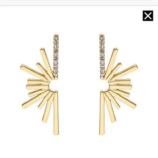 MIMCO Good Vibrations Gold Plated Stud Earrings