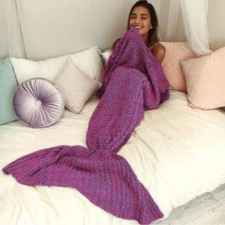 MERMAID TAIL BLANKET - PURPLE