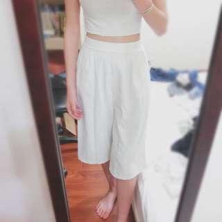 🚚 白色寬褲 #長褲特賣