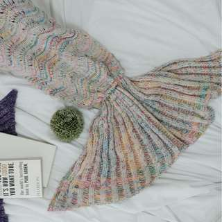 MERMAID TAIL BLANKET - WHITE LIMITED EDITION